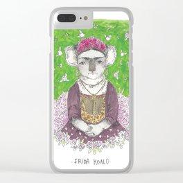 frida koalo Clear iPhone Case