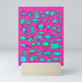 Super Space Party Mini Art Print