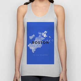 Boston Map Unisex Tank Top