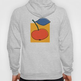 Multicolored abstract apples on a bright yellow background Hoody