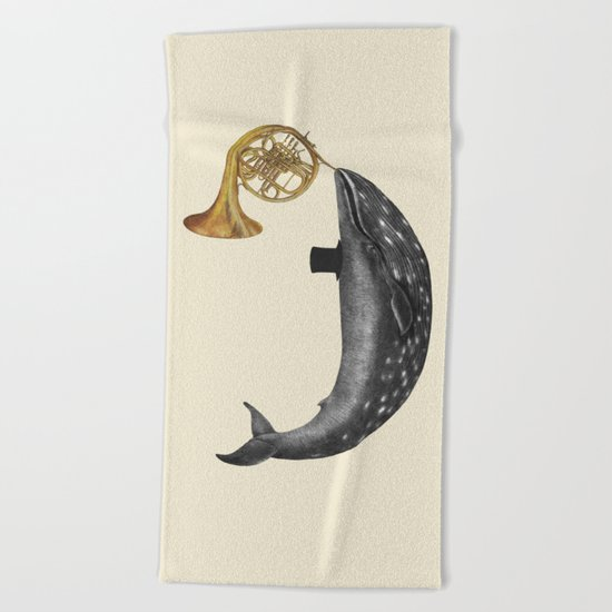 Whale Song Beach Towel