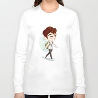 shinee Long Sleeve T-shirts featuring SHINee model walking ho  by sophillustration