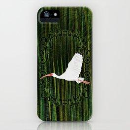 American White Ibis In Flight iPhone Case