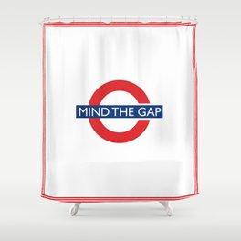 London Underground Mind The Gap Shower Curtain
