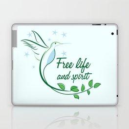 Hummingbird Free Life Quote Laptop & iPad Skin