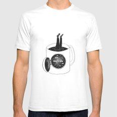 cup of demons MEDIUM White Mens Fitted Tee