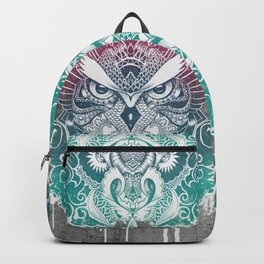 Owl and dragon colored Backpack