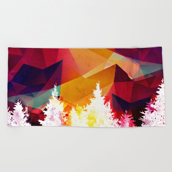 Forest explosion of color Beach Towel
