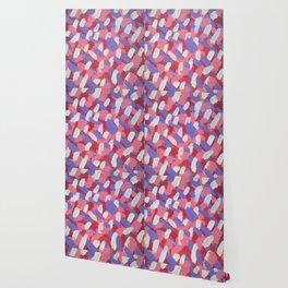 Pink and Purple Brushstrokes Art Wallpaper
