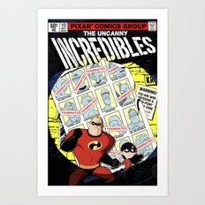 Days of Supers Past Art Print
