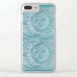 Sun Moon And Stars Batik Clear iPhone Case
