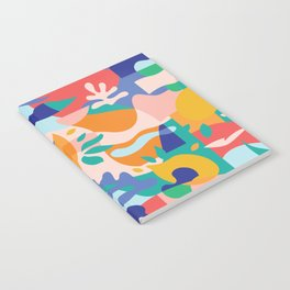Amalfi Abstraction Pattern / Colourful Modern Shapes Notebook