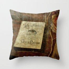 White House Cookbook Throw Pillow