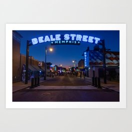 Walking in Memphis - Beale Street Art Print