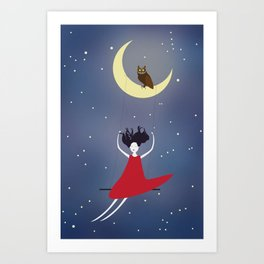 Swing me to the stars Art Print