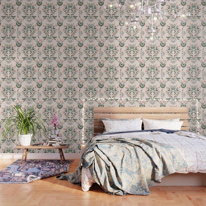 Modern Folk Art Wallpaper