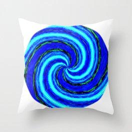 Blue Ball Swirl Throw Pillow
