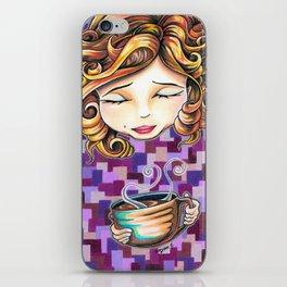 Curls and Coffee Swirls iPhone Skin