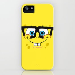 Spongebob Nerd Face iPhone Case
