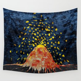 Erupting volcano Wall Tapestry