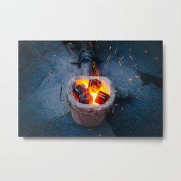 controlled burn Metal Print
