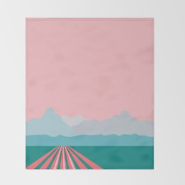 Farming Alaska Throw Blanket