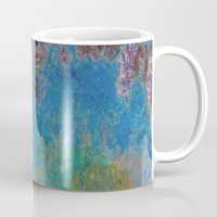 monet Mugs featuring Wisteria by Claude Monet by Palazzo Art Gallery