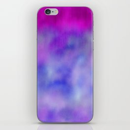 Lavender purple navy blue abstract watercolor iPhone Skin