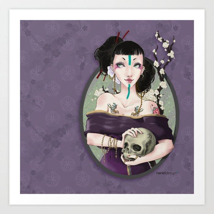 Asian crew - Punk Geisha Art Print