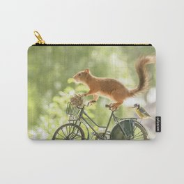 squirrel on a bicycle Carry-All Pouch