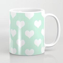 Mint Green Sweet Heart Spring Summer Coffee Mug