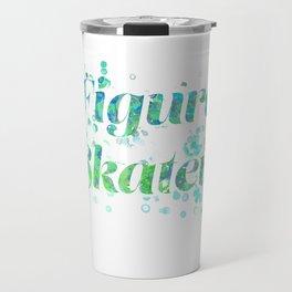 Figure Skater Watercolor Digital Painting Design Travel Mug
