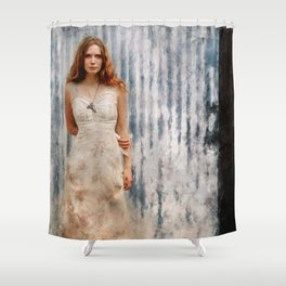 The Mysterious Redhead Gypsy Woman Shower Curtain