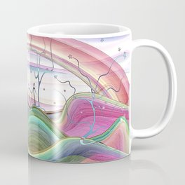 Dreamy star tree forest artwork Coffee Mug