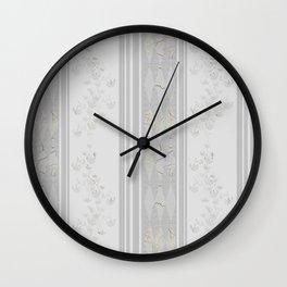 Grey stripes . Wall Clock