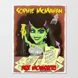 Sophie McMahan, Art Monster Canvas Print