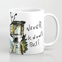 A black winged angel. Coffee Mug