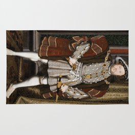 Portrait of Henry VIII - After Hans Holbien the Younger Rug
