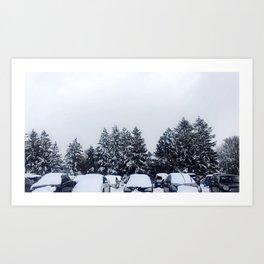 Wolfville Snow Art Print