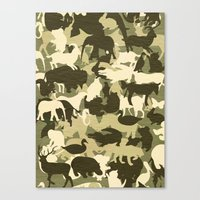 camouflage Canvas Prints featuring Camouflage by Diego Tirigall