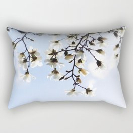 White magnolia blossoms sky Rectangular Pillow