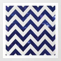 chevron Art Prints featuring ChEVRON by Monika Strigel