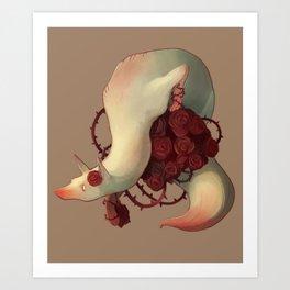 Fox Roses Art Print