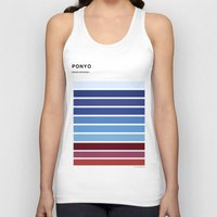 ponyo Tank Tops featuring The colors of - Ponyo by hyos