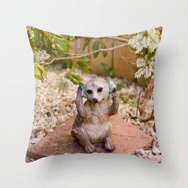 Meerkat.. Throw Pillow