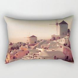 Oia Sunset Rectangular Pillow