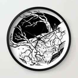 Crooked (Backpacking Mt. Jefferson PCT) - Inktober 2017 Wall Clock