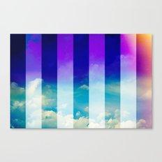 Blue Sky / Bold Stripes Canvas Print