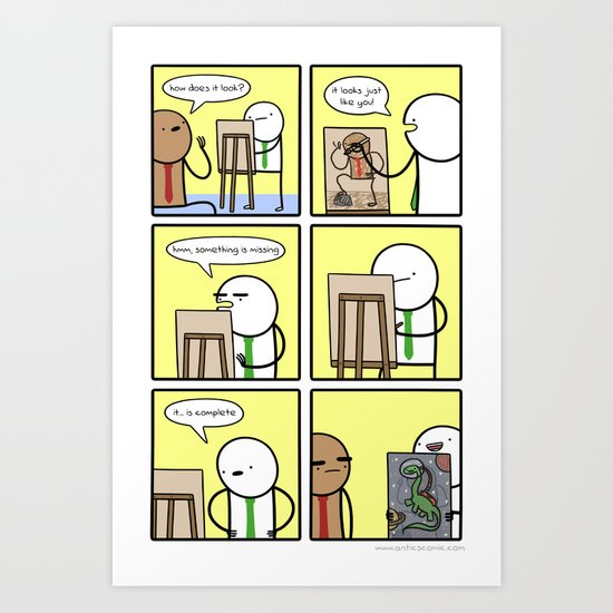 Antics #209 - appreciation for the human form Art Print