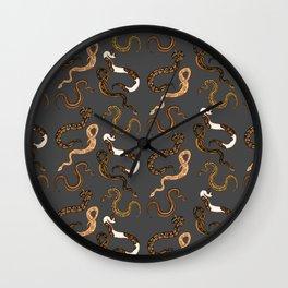 Plenty of Pythons - Dark Wall Clock